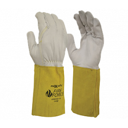 TW:GRE-243: Leather Extended Cuff Rigger Gloves (Heat Resistence)