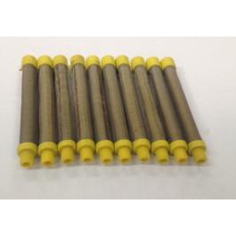 17-100 Yellow 100# Mesh Push In Gun Filter (10 Pack)