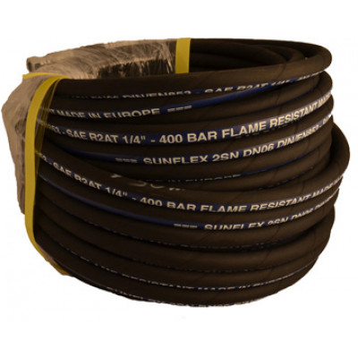 "1/4"" X 30M Double Wire Braided Hose"