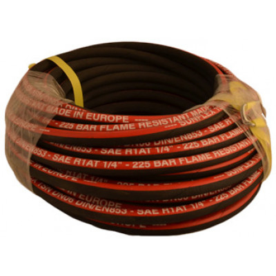 "1/4"" X 30M Single Wire Braided Hose + Bonus fittings"