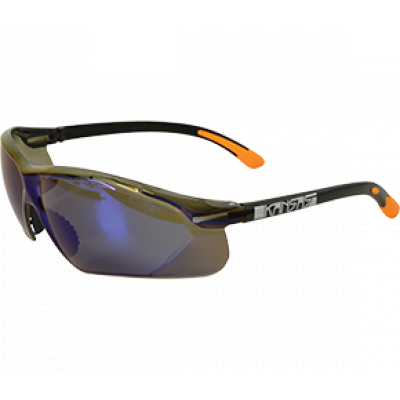 TW:EKA306: Safety Glasses-Kansas (Blue Mirror)
