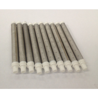 17-50 White 50# Mesh Push In Gun Filter (10 Pack)