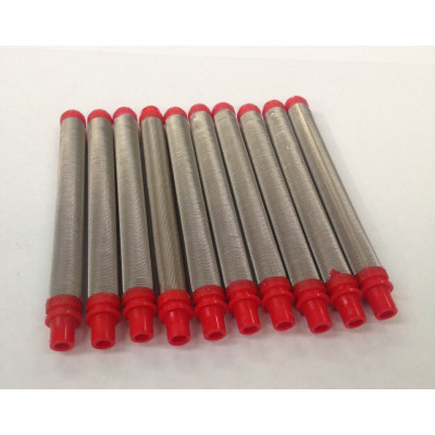 17-200 Red 200# Mesh Push In Gun Filter (10 Pack)