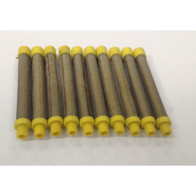 17-100 Yellow 100# Mesh Push In Gun Filter (10 Pack)