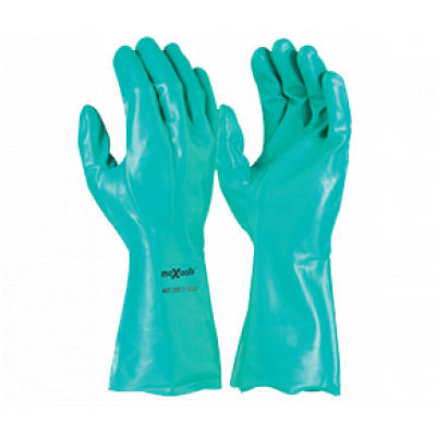 TW:GNF127: Nitrile Chemical gloves 33cm long