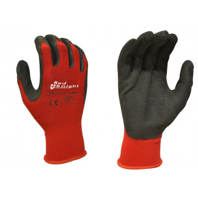 TW:GNL156: Red knight Latex Gripmaster Gloves