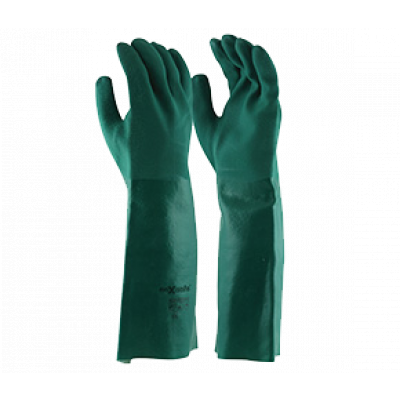 TW:GPD134-45: PVC Double Dipped chemical gloves 45cm