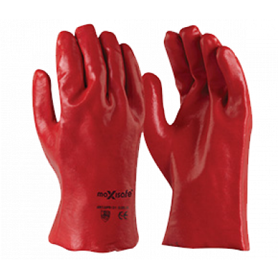TW:GPR121: PVC Single Dipped chemical gloves 27cm