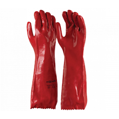 TW:GPR122: PVC Single Dipped chemical gloves 45cm