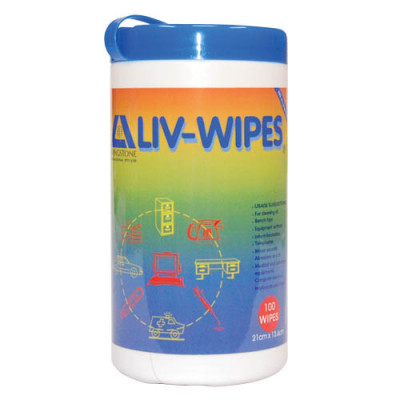LIVWIPES: Livingston- Alcohol Wipes Jumbo Canister (75 wipes per tube)