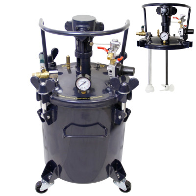 Bare 10L Agitated Pressure Pot (No Hose / Gun)